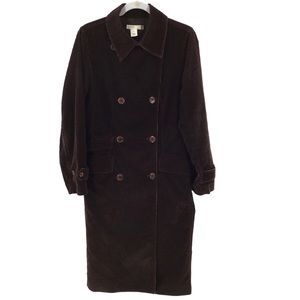 J crew Brown corduroy double breasted trenchcoat